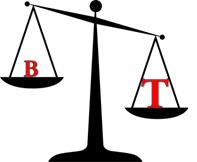 b vs t