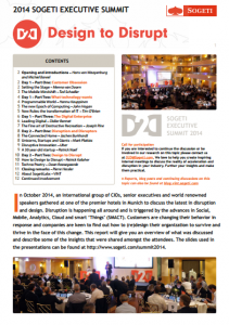 Download the report of the Sogeti Executive Summit 2014