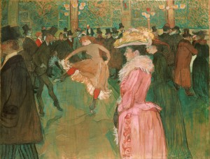 At the Moulin Rouge - Henri de Toulouse-Lautrec