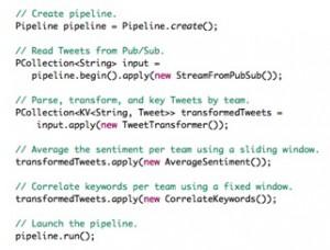 Cloud Dataflow program