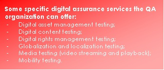 Digital assurance services offered by QA org
