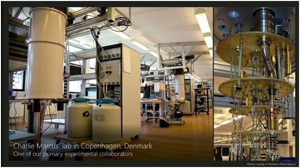 First picture of a Quantum Computer created in Microsoft's Lab in Copenhagen, Denmark