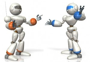 Two robots talking - resized