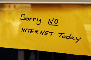 No internet today