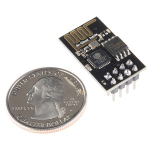 ESP8266 ESP-01 next to a US quarter