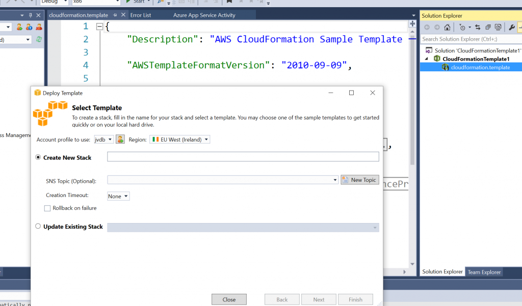 Learn AWS Cloud Formation - AWS Toolkit for Visual Studio | Sogeti Labs