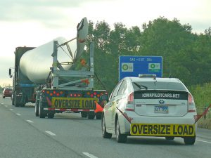 Wind turbine blade on the road