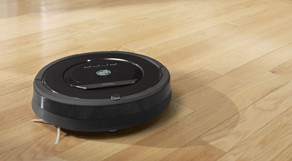 roomba on wooden floot