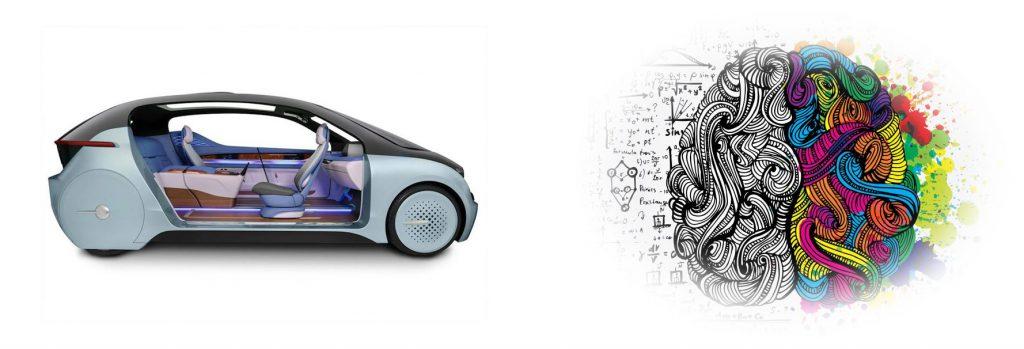 driverless car and brain AI