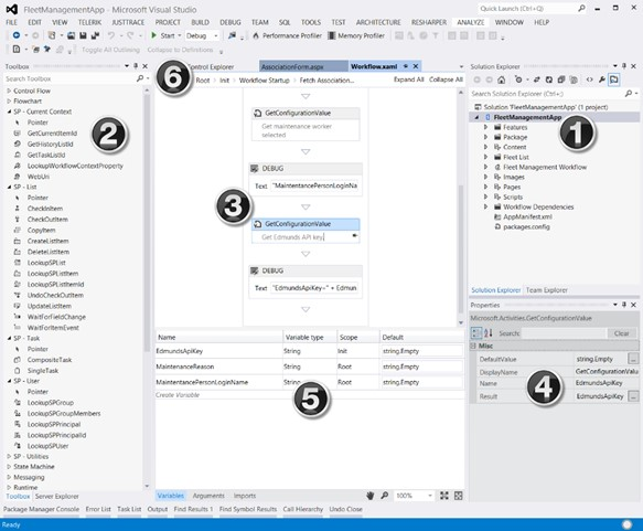 Figure 3. Workflow authoring interface